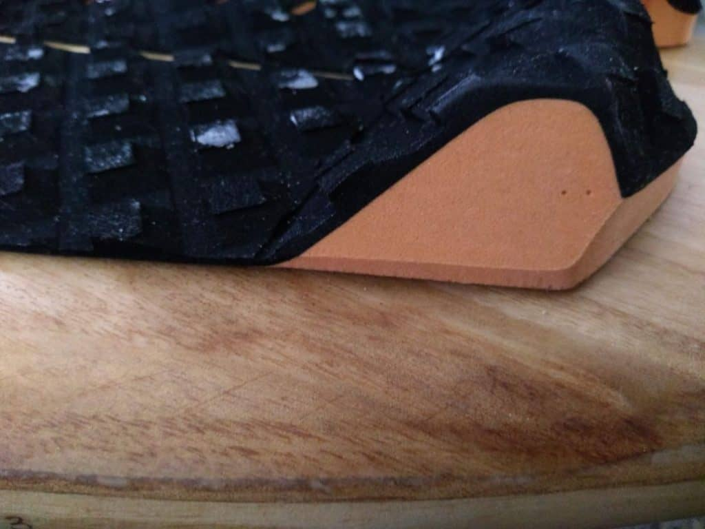 rear of traction pad